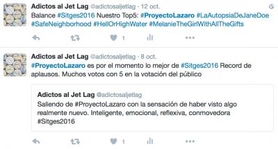 tweets @adictosaljetlag proyecto lazaro