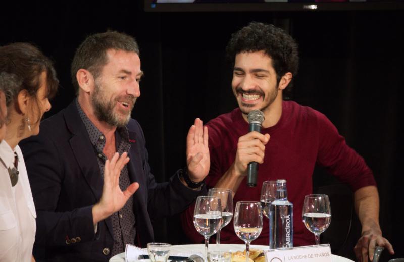 Antonio de la Torre y Chino Darín presentando La Noche de 12 Años en los encuentros TCM