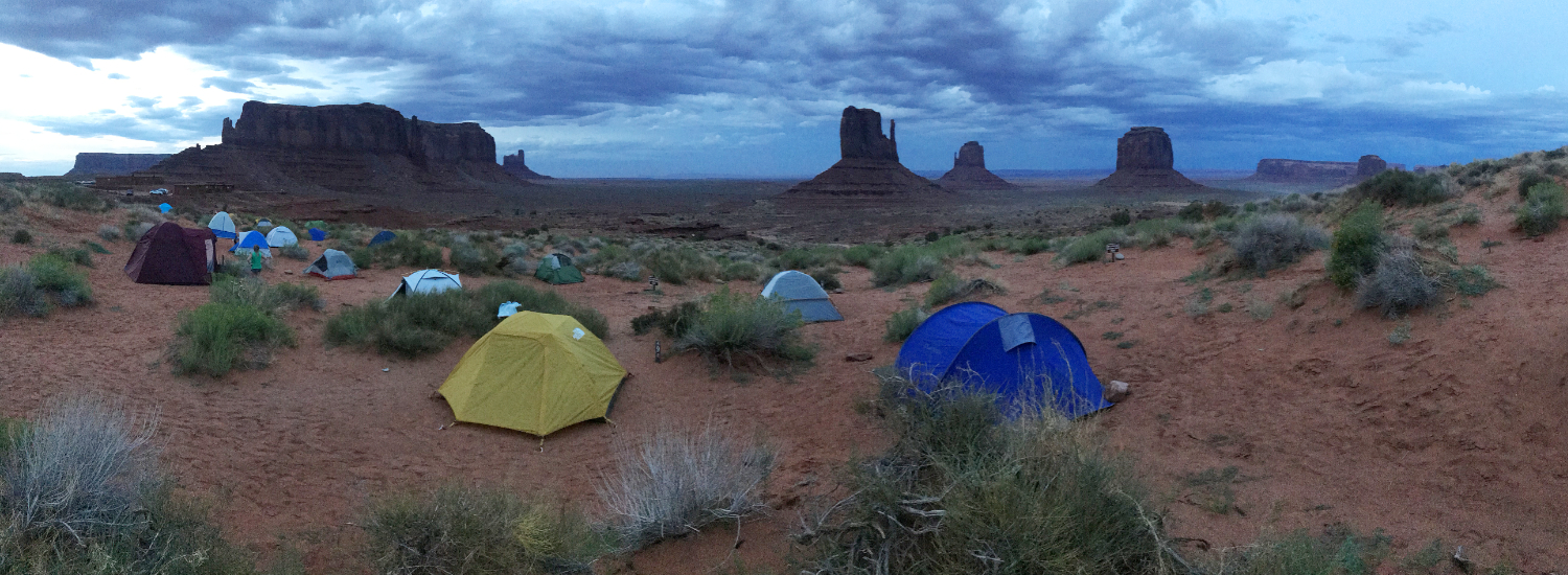 Zona de acampada (Camp Ground) en Monument Valley