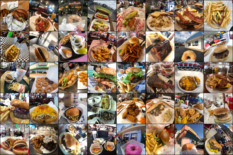 Estos son algunos de los platos que comimos durante la ruta